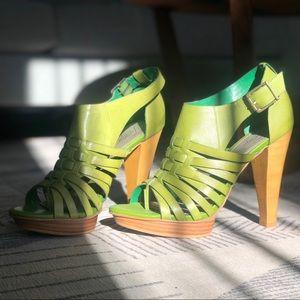Fergie - Green Leather Heels